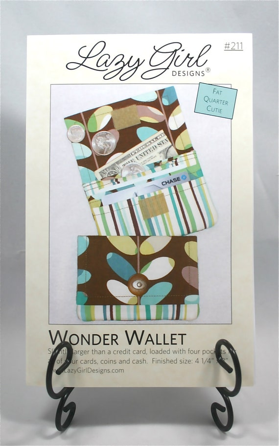 Wonder Wallet Pattern Quick and Easy  2 sizes -  Wonder Wallet by Lazy Girl Designs