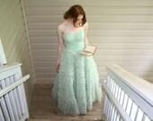 1950's Pastel Green Princess Prom Dress