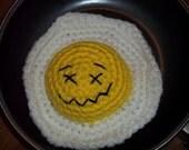 Fried Egg Amigurumi Toy
