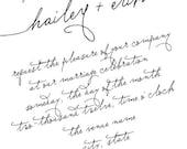 Handwritten - Wedding Invitations (Set of 25)