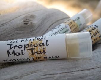 Tropical Mai Tai Lip Balm Organic Ingredients FREE SHIPPING