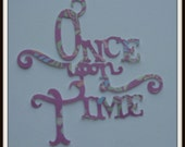 Once Upon a Time pink die cut (097)