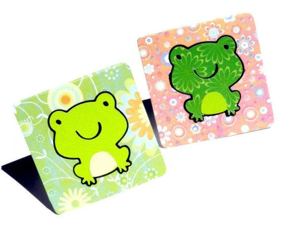 Adorable froggie notecards - set of 4