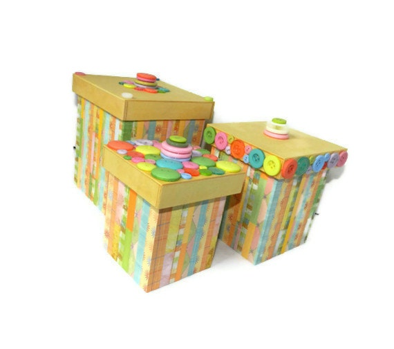 CLEARANCE - Decorative nesting boxes for supplies, nurserys, or anything else