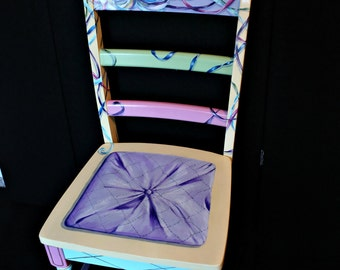 Hand painted trompe l'oeil chair