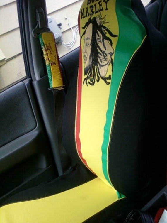 2 bob marley rasta car seat covers. Black Bedroom Furniture Sets. Home Design Ideas