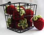 CROCHET PATTERN Crochet Pattern: Pretend Play Strawberries (Instant Download)