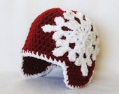 CROCHET PATTERN Let It Snow Beanie (5 sizes included from newborn-adult) Instant Download