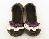 HANDMADE Women's Ruffle Ballet Flats (Size women's 7) On SALE and ready to ship