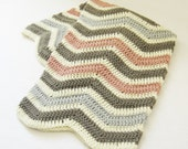 Blanket CROCHET PATTERN Chevron Baby Blanket (with instructions to make in larger sizes) Instant Download