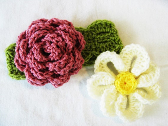 CROCHET PATTERN Garden in Bloom Headband (4 sizes included from newborn- adult) Instant Download