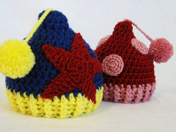 CROCHET PATTERN Circus Hat (4 sizes included from newborn-10 years) Instant Download