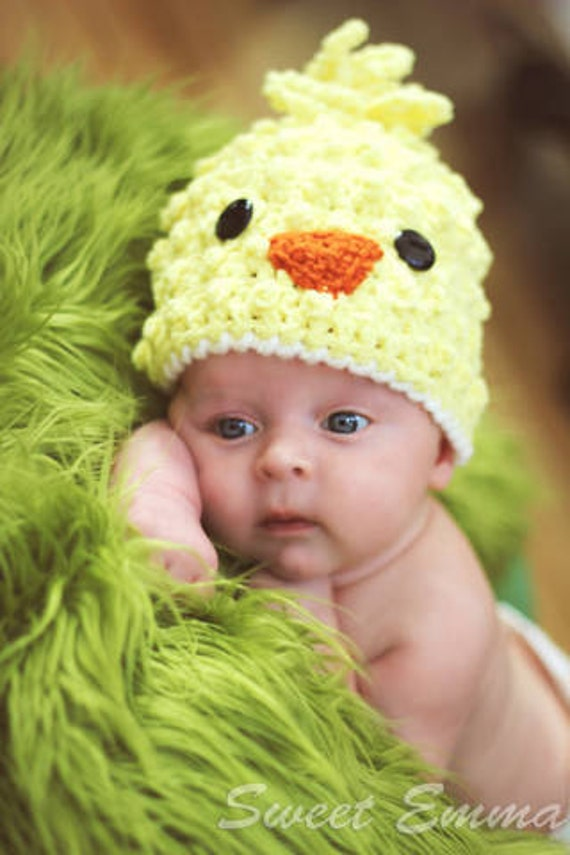 Crochet Pattern Spring Chick Beanie With By
