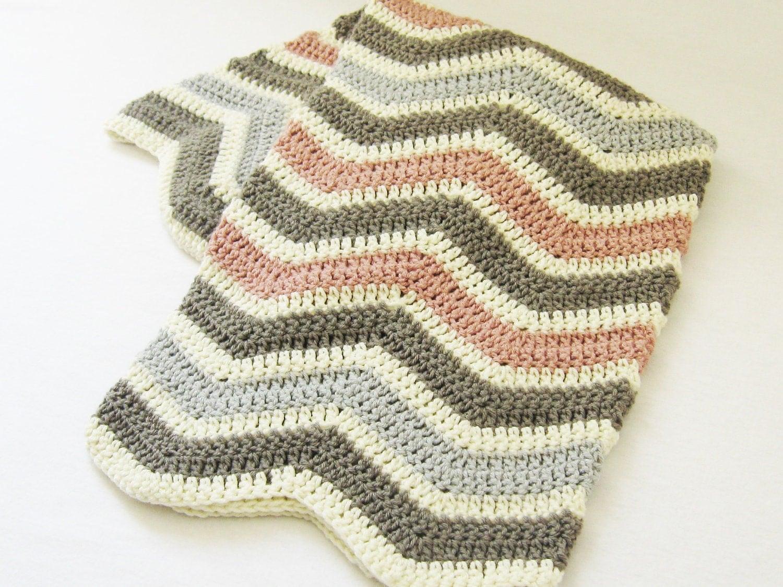 Crochet Baby Blanket Patterns On Etsy : Blanket CROCHET PATTERN Chevron Baby Blanket newborn baby