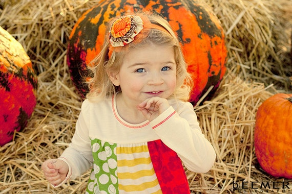 Halloween headband Thanksgiving Pumpkin headband Baby girl headband Newborn headband Fall headband Infant headband Baby headband Holiday bow