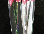 Mardi Gras Hair Tinsel Extensions : Sizzling Purple/Green/Gold Hair Bling (36 inch) pack of 20 strands
