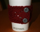 Bevlet - Coffee / Tea Cozy and hip Bracelet in one - Scarlet / Gray