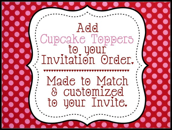 Cupcake Toppers / Stickers / Scalloped tags OR Bag Tag - Customized  - Coordinates with Invitations - Birthday - Printable - DIY Printing