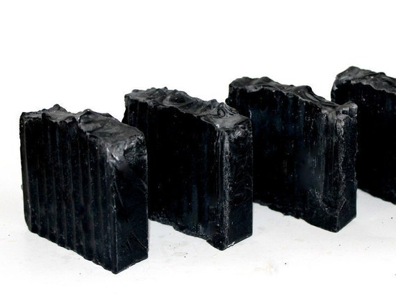 Bamboo Activated Charcoal and Tea Tree Vegan Soap for Troubled Skin,