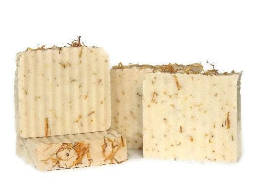 Wild Mountain Honey   Handmade Shea Butter Soap with Skin Soothing Calendula ,