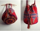 SALE 10% off / Coupon code 10OFF// Wayuu Bag - Hand woven Mochila Bag