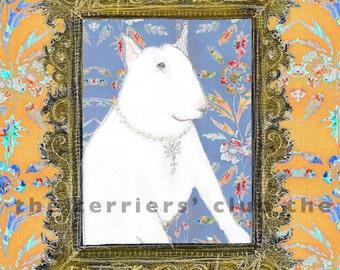 Portrait Bull Terrier Card - Terriers Framed