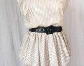 Vintage 70s Pencil Skirt Secretary Dress Size M/L
