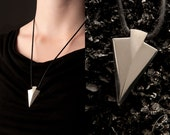Geometric jewelry silver arrowhead