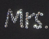 Custom Bachelorette Mrs. Tank, Your Married Name Swarovski Embellished by Dirty Girl Creations on Etsy