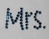 Custom Something Blue Mrs. Panties, Your Married Name Swarovski Embellished for Something Blue, by Dirty Girl Creations on Etsy