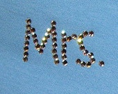 Custom Bachelorette Baby Blue Mrs. PANTY, Swarovski Embellished, Your Married Name by Dirty Girl Creations on Etsy
