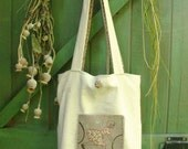 Christmas day gift idea. Antique linen bag. French style. Shabby chic.
