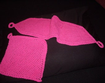 Knitted Cotton Back Scrubber Pattern PDF