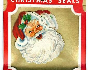 1950s Dennison Santa Christmas Seals-Medium-Sealed in Pack