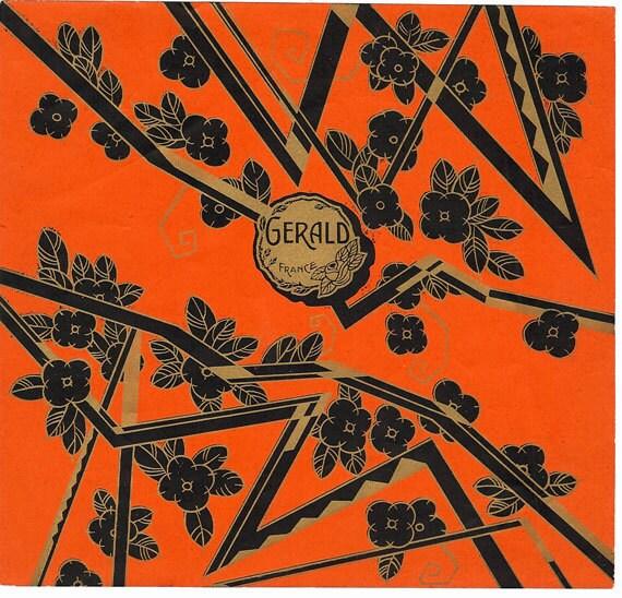 French Art Deco Perfume Label-Gerald 1930s