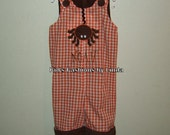 Personalized  Orange Gingham Halloween Spider  Longalls