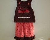 Queen of Hearts Valentine Aline Top/Pants Set