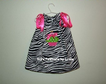 Zebra Birthday Pillowcase Dress