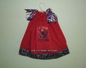 Patriotic Princess Pillowcase Dress