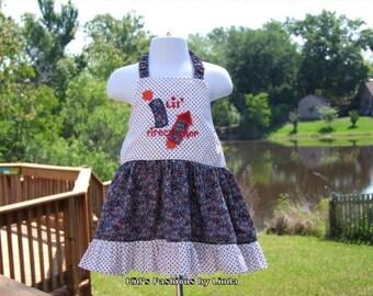 Patriotic Lil Firecracker Halter Dress