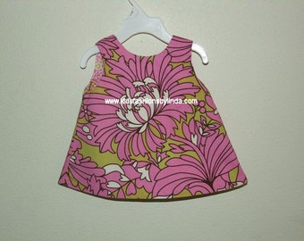 Open Back Reversible Infant/Toddler  Dress from Amy Butler Daisy Chain Fabric