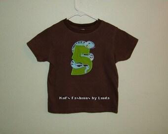 Personalized Snake 5 Birthday Tshirt