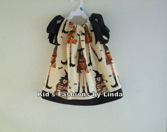 Halloween Pillowcase Dress with Alexander Henry Witches