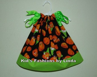 Halloween Pumpkins Pillowcase Dress-Great for Pumpkin Patch