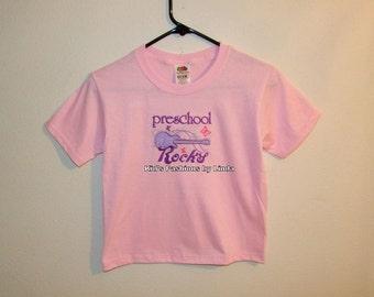 Pink Preschool Rocks Tshirt