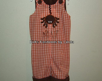Personalized Reversible Halloween Spider/Thanksgiving Turkey Longalls