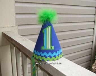 Birthday Stripes Ric Rac/Boa Hat