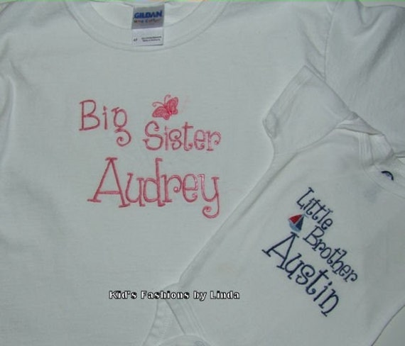Brother/Sister Tshirt Bodysuit Set