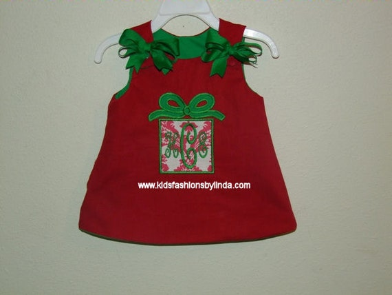 Reversible Christmas Present  Red/Green Aline Dress