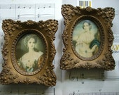 Vintage Victorian Art Pictures of  Lady Dower and Isabella Montgomery CAMEO Pictures